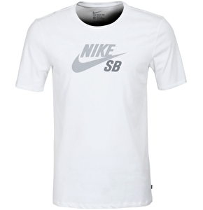 Nike Dri-Fit Icon Logo Tee - White/Grey