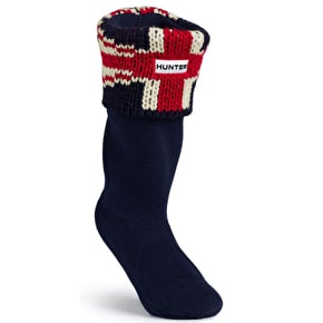 Hunter Kids Original Brit Wellington Boots Socks Dark Navy