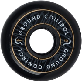 Ground Control 64mm 90a Inline Skate Wheels - Black