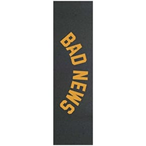 Grizzly Bad News Stamp Skateboard Grip Tape - Yellow