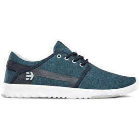 Etnies Scout Shoes - Navy/Grey/White