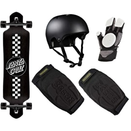Santa Cruz Intermediate Drop Thru Complete Longboard Bundle