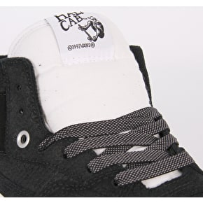 Vans Half Cab Skate Shoes - (Snake) Black/Blanc