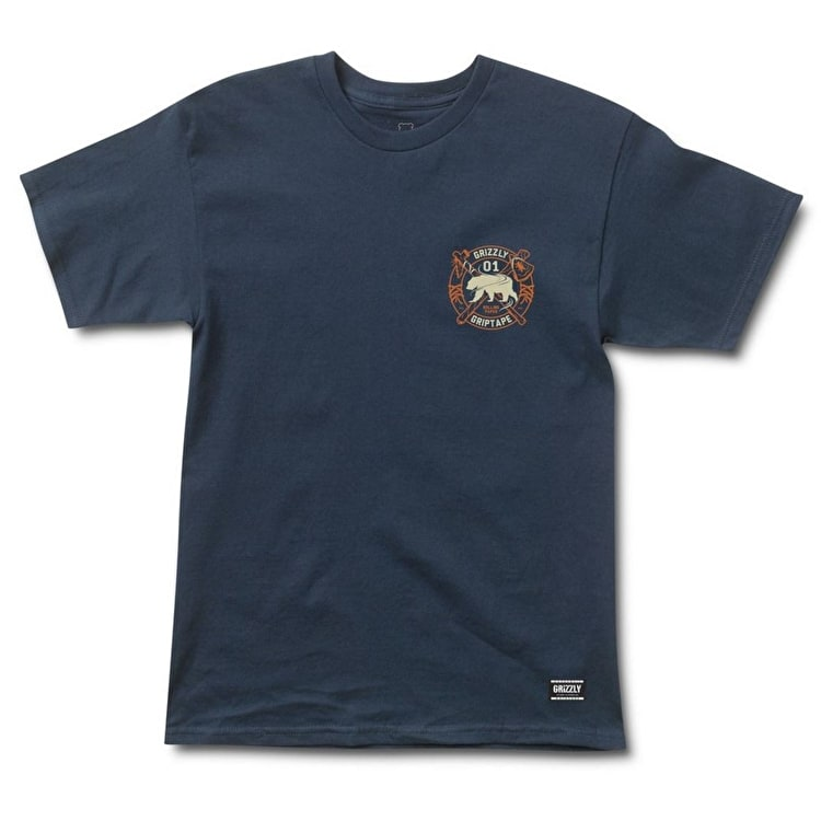 Grizzly Native Elements T-Shirt - Navy