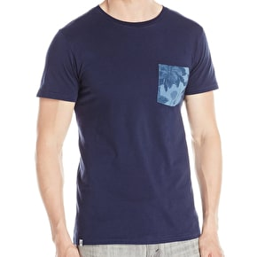 WeSC Sarek Hawaii Pocket T-Shirt - Blue Iris