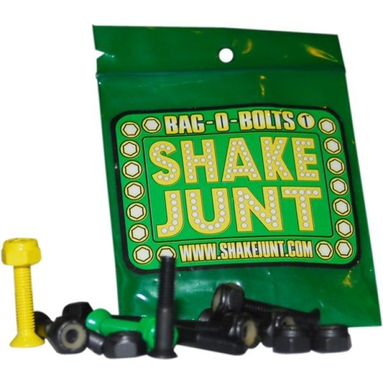 "Shake Junt 1"" Skateboard Bolts - Black/Yellow"