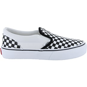 Vans Toddler Slip On Shoes - Checkerboard Black/White
