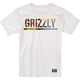 Grizzly Youth Stamped Scenic T Shirt - White