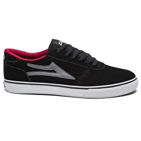 Lakai Manchester Skate Shoes - Black/Grey Suede