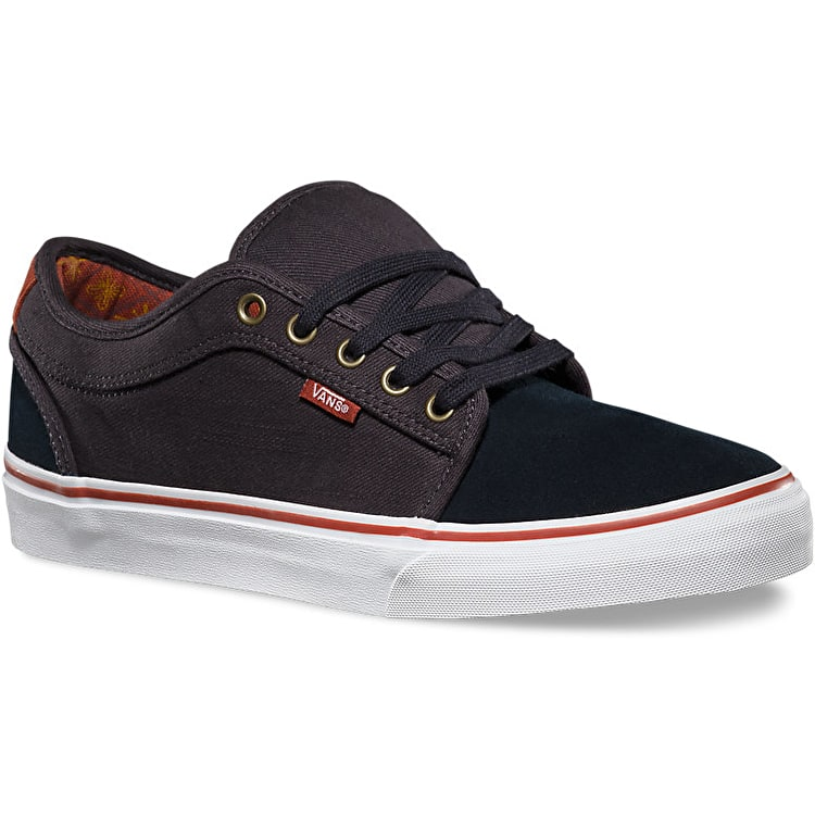 Vans Chukka Low Skate Shoes - (Gold Leaf) Navy