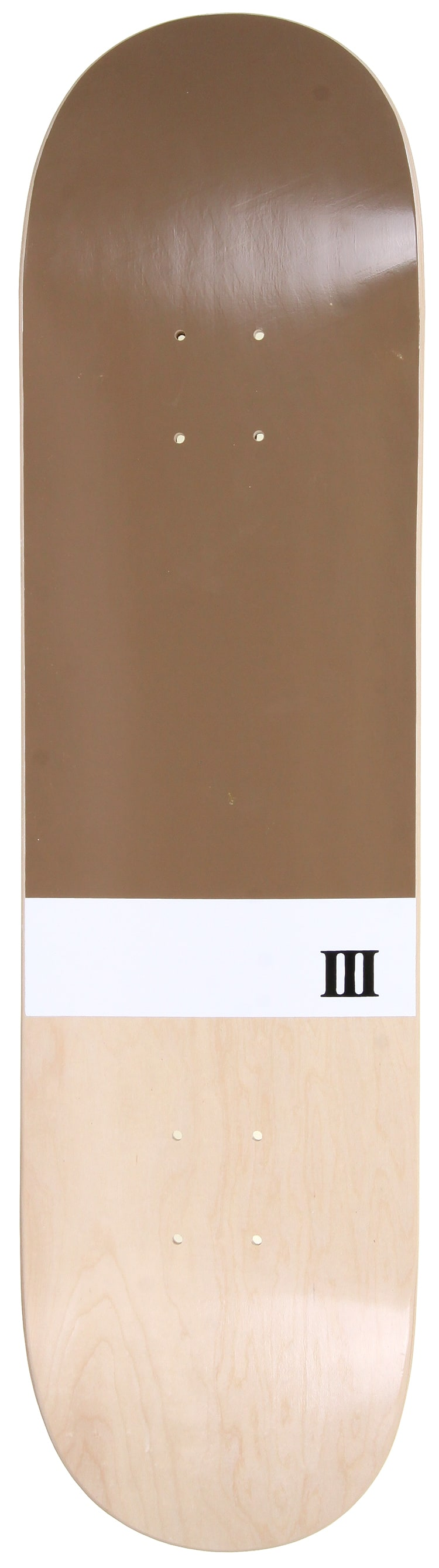 Image of A Third Foot Numeral Skateboard Deck - Golden Brown - 8.375""