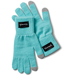 Diamond Blue Touchscreen Gloves - Diamond Blue