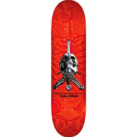 Powell Peralta Ray Rodriguez Skull & Sword Skateboard Deck - Red 8.25