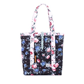 Herschel Market Tote Bag - Black Floral