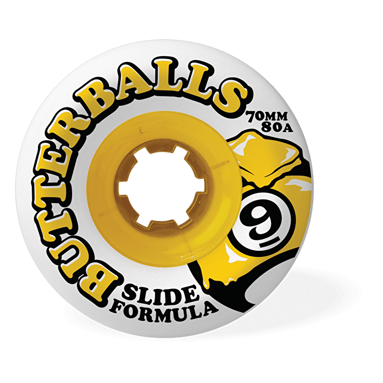 Sector 9 Butterballs Longboard Wheels - 70mm 80a (Pack of 4)