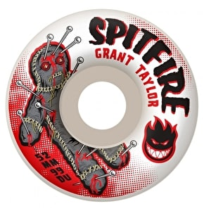 Spitfire Pin Cushion Grant Taylor 99a White Skateboard Wheels 52mm