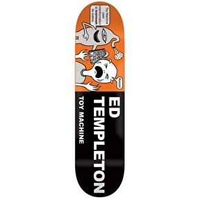 Toy Machine Templeton Tract Pro Skateboard Deck - 8.5