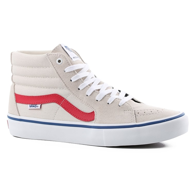 Vans SK8-Hi Pro Skate Shoes - Birch/Rococco Red