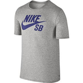 Nike SB Logo T-Shirt - Grey Heather/Deep Night