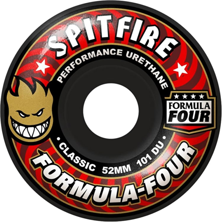 Spitfire Formula Four Classic 101D Skateboard Wheels (Pack of 4)