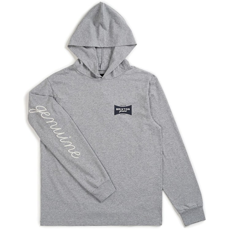 Brixton Ramsey SV Long Sleeve Knit Hoodie - Heather Grey