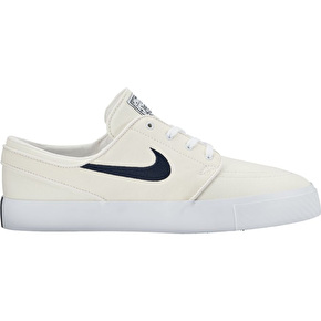 Nike SB Zoom Stefan Janoski Canvas Skate Shoes - White/Obsidian