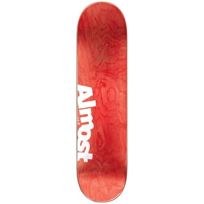 Almost Neon Sign R7 Skateboard Deck - Red 7.75