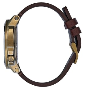 Nixon Ranger Ops Leather Watch - Brass/Brown