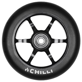 Chilli Pro 6 Spoke 2.0 120mm Scooter Wheel w/Bearings - Black/Black
