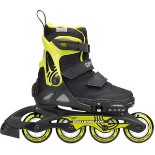 Rollerblade 2018 Spitfire SL Adjustable Inline Skates - Black/Lime