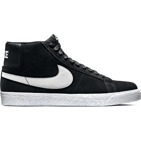 Nike SB Blazer Premium SE Skate Shoes - Black/Base Grey
