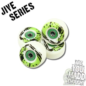 MGP Jive Series Complete Skateboard - Tailed Logo Green 7.5