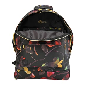 Mi-Pac Watercolour Floral Backpack - Black