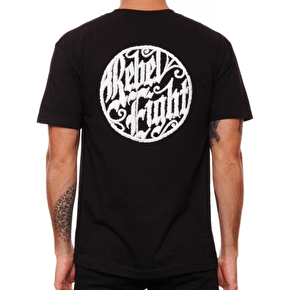 Rebel8 Ornate Badge T-Shirt - Black