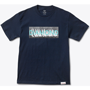 Diamond Boat Line T-Shirt - Navy