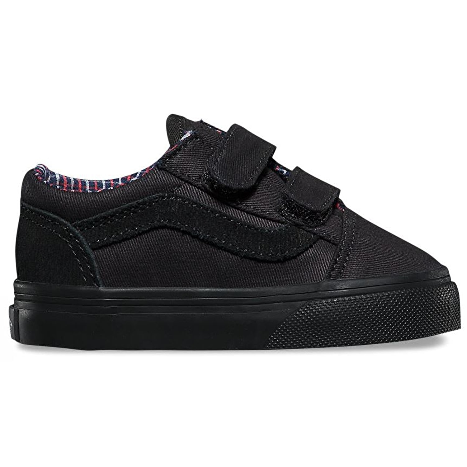 vans old skool v skateschuhe schnur kariert schwarz schwarz ebay. Black Bedroom Furniture Sets. Home Design Ideas