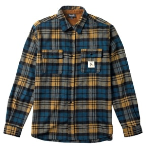 Diamond Caribou Plaid Shirt - Golden Brown