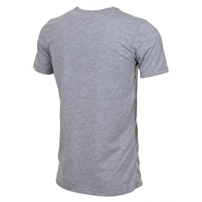 Hype Script T-Shirt - Grey/Burgundy