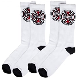 Independent Truck Co. Socks (2 Pairs) - White