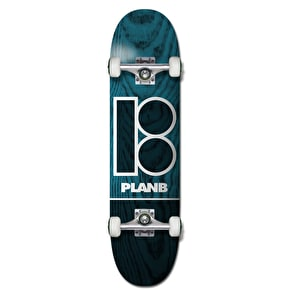 Plan B Team B Blue Stain Complete Skateboard - 7.75