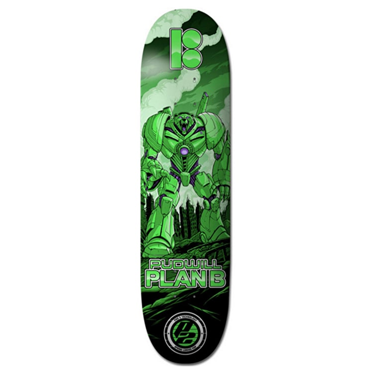 Plan B Skateboard Deck - Guardian P2 Pudwill 8.25''