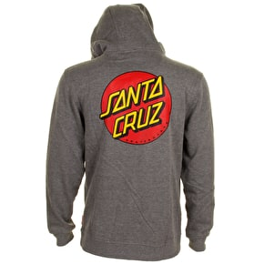 Santa Cruz Zip Hoodie - Classic Dot Dark Heather