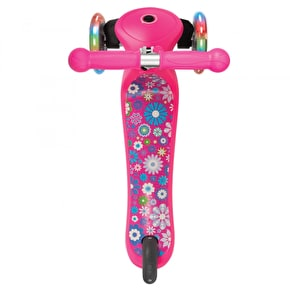 Globber Primo Fantasy Lights Complete Scooter - Small Flower Neon Pink