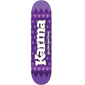 Karma Lolli Pop Skateboard Deck - Blackcurrant - 8.25''