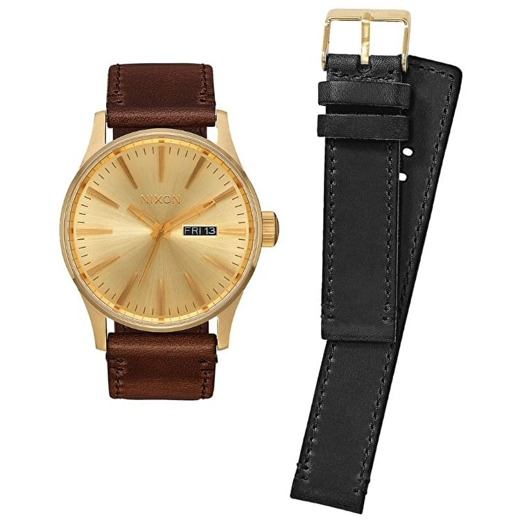 Nixon Sentry Pack Watch - All Gold/Black/Brown