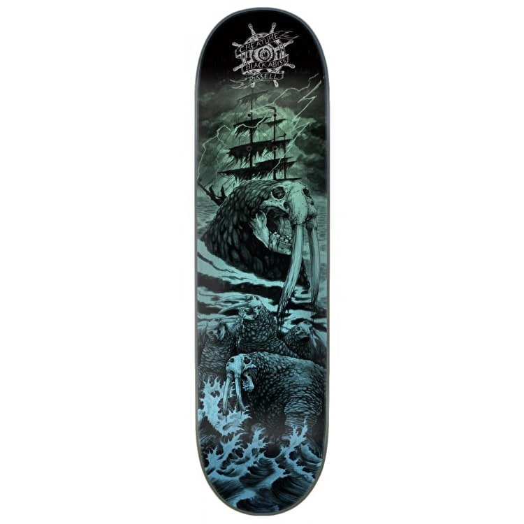 """Creature Pro Black Abyss Skateboard Deck - Russell 8.5"""""""