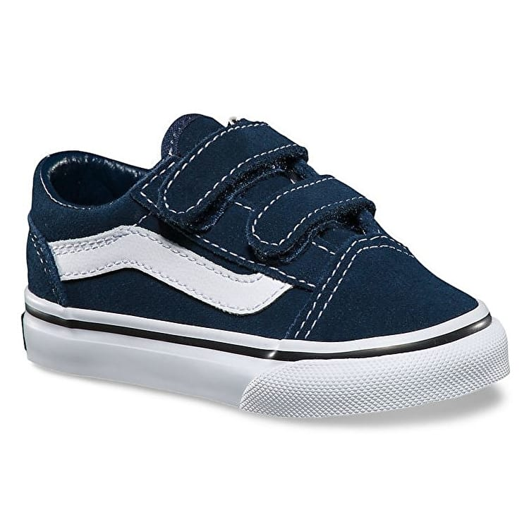 Vans Old Skool V Toddler Skate Shoes - (Suede) Dress Blues/Black