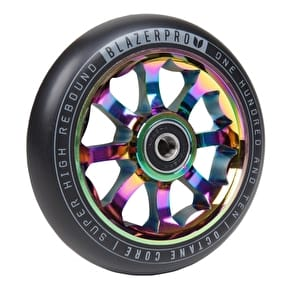 Blazer Pro Octane 110mm Scooter Wheel w/ABEC 9 Bearings - Neochrome