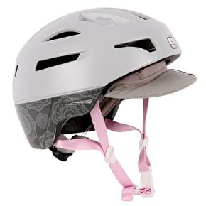 Bern Parker Flip Visor Helmet - Satin Light Grey