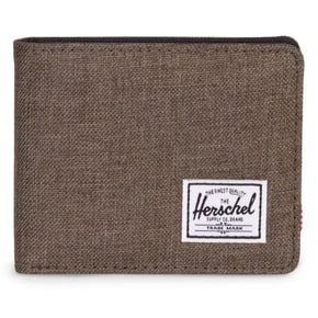 Herschel Roy + Coin RFID Wallet - Canteen Crosshatch/Black